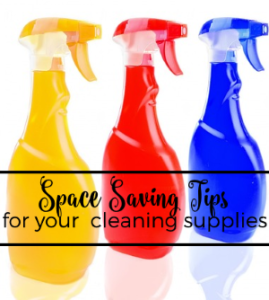 Space Saving Tips for Your Cleaning Supplies