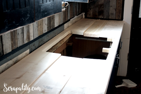 Adding a New Countertop in the Kitchen Cuting Out the Sink