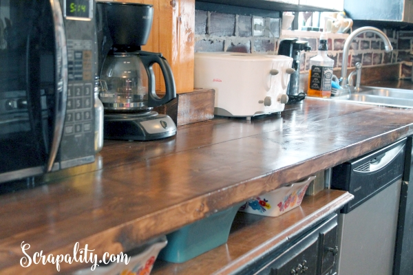 Adding a New Countertop in the Kitchen Using Wood