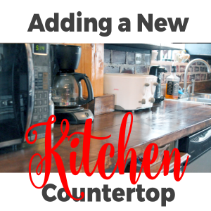 Adding a New DIY Countertop in the Kitchen