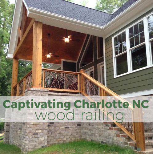 Captivating Charlotte NC Wood Railing