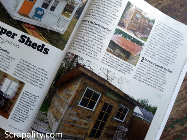 Pallet Shed Featured by Hometalk in The New Pioneer Magazine