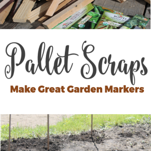 Pallet Scraps Make Great Garden Markers
