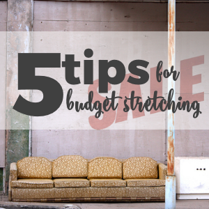 5 Tips for Budget Stretching