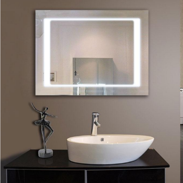 Those popular led mirrors you just can t miss scrapality - Large horizontal bathroom mirrors ...
