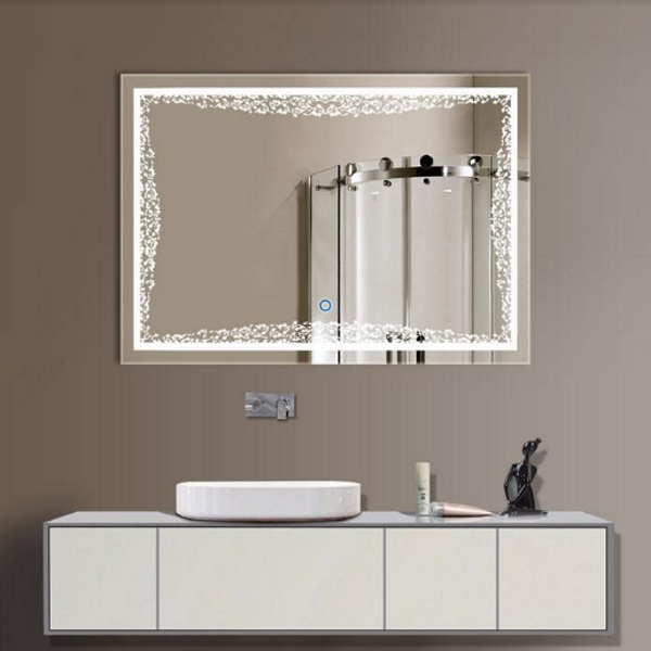 LED Lighted Mirror with the Button