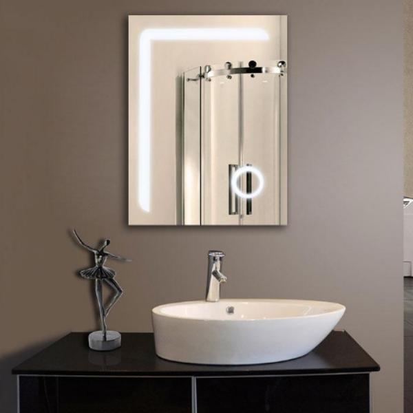 Vertical LED Bathroom Silvered Mirror