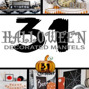 31 Halloween Decorated Mantels