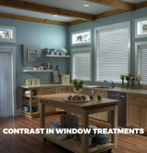 Contrasting Colors in your Window Treatments