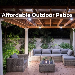 Affordable Outdoor Patios-Get in Touch with Nature While Enjoying Your Home