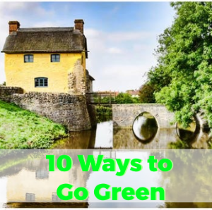Top 10 Ways to go Green at Home