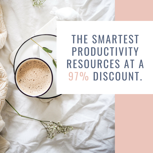 The Smartest Productivity Resources at a 97% Discount