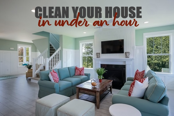 How to Clean Your House Within an Hour
