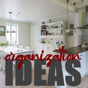 Pretty & Easy Home Organization Ideas