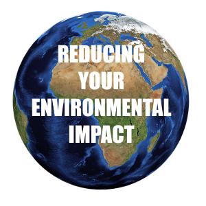 Reducing Your Environmental Impact