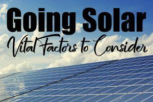 Planning to Go Solar