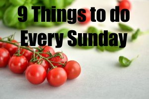 Things to Do Every Sunday