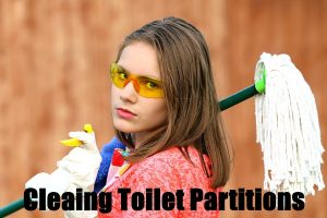 Cleaning Toilet Partitions