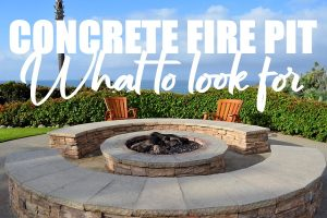 Concrete Fire Pit for Your Home