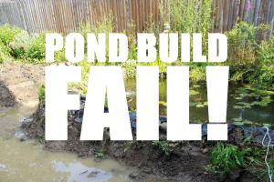 Building a Pond Fail – When Not to Dig a Hole for a New Pond