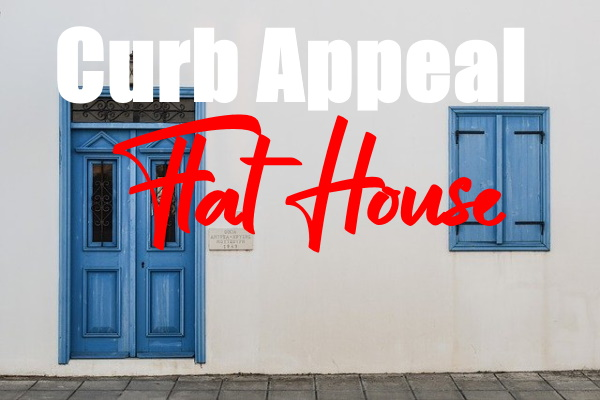 Curb Appeal to a Flat Front House
