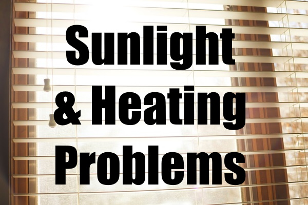 Sunlight and Heating Problems