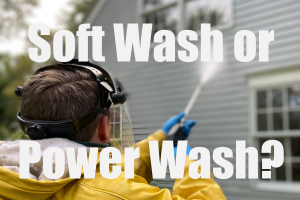 Soft Washing vs Pressure Washing
