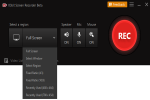 IObit Screen Recorder – Screen Recoding App to Share Recordings On Online Platforms