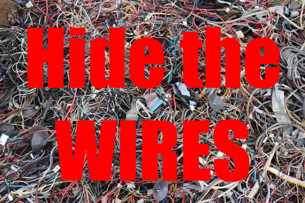 Declutter TV Wires And Hide Them